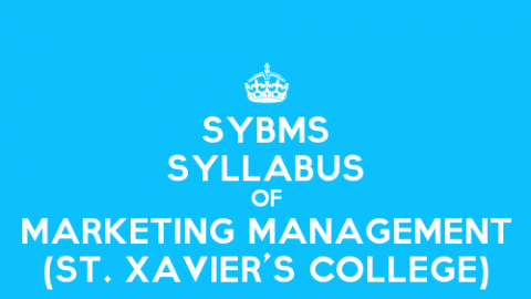 St. Xavier's College SYBMS Sem 3 Syllabus: Marketing Management