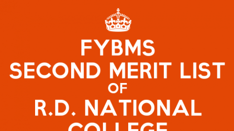 FYBMS Cutoff 2015 Second Merit List of R.D. National College