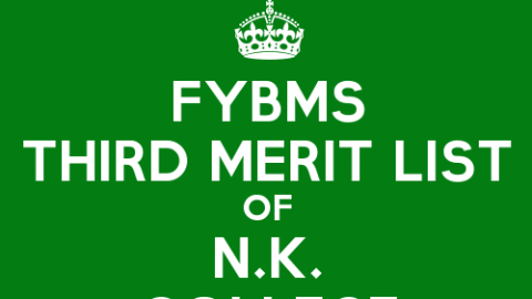 FYBMS Cutoff 2015 Third Merit List of Nagindas Khandwala College