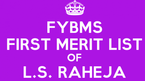 FYBMS Cutoff 2015 First Merit List of L.S. Raheja College