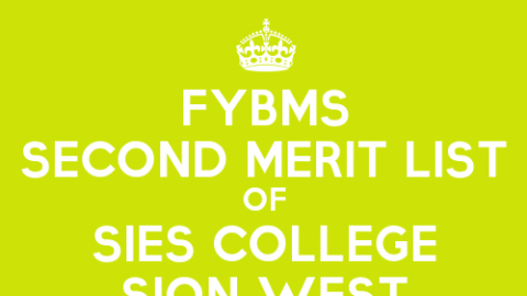 FYBMS Cutoff 2015 Second Merit List of SIES College Sion West