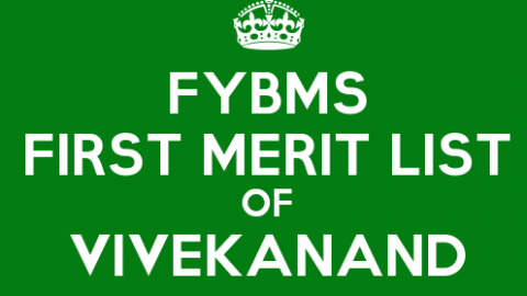 FYBMS Cutoff 2015 First Merit List of Vivekanand Education Society's College
