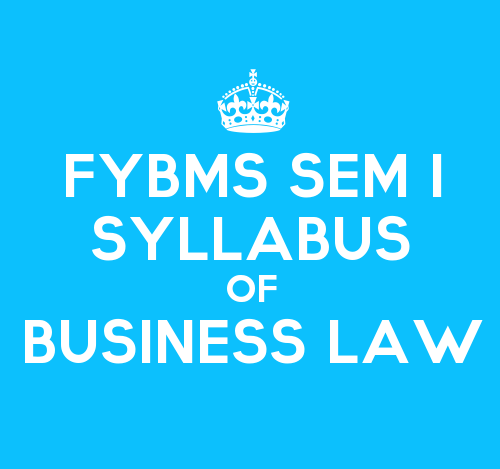 FYBMS Sem 1 Syllabus: Business Law