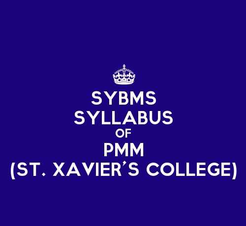 St. Xavier's College SYBMS Sem 3 Syllabus: Production and Materials Management