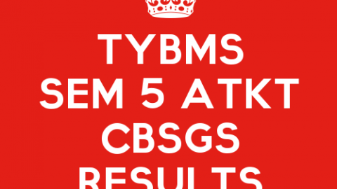 TYBMS Sem 5 CBSGS 60:40 April 2015 Results Declared