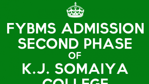 Second Phase of FYBMS Admission 2015 of K.J. Somaiya College of Science and Commerce