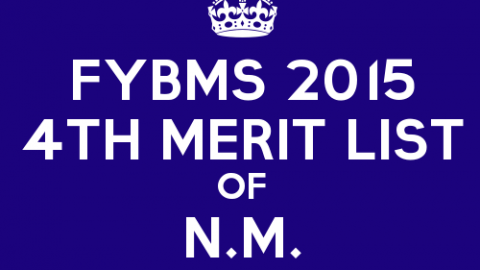 FYBMS Cutoff 2015 Fourth Merit List of N.M. College