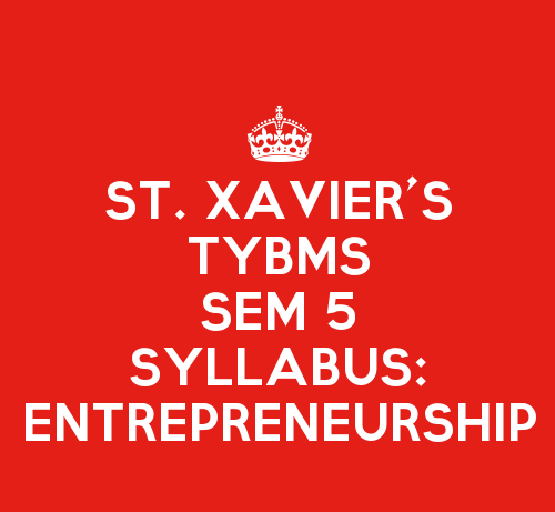St. Xavier's College TYBMS Sem 5 Syllabus: Entrepreneurship and Management of SMEs