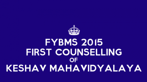 FYBMS First Counselling Closing Rank 2015 of Keshav Mahavidyalaya (KMV)