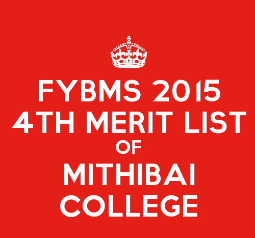 FYBMS Cutoff 2015 Fourth Merit List of Mithibai College