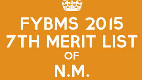 FYBMS Cutoff 2015 Seventh Merit List of N.M. College