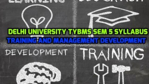 Delhi University TYBMS Sem 5 Syllabus – Training and Management Development