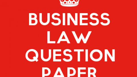 Business Law Practice Question Paper Set 3