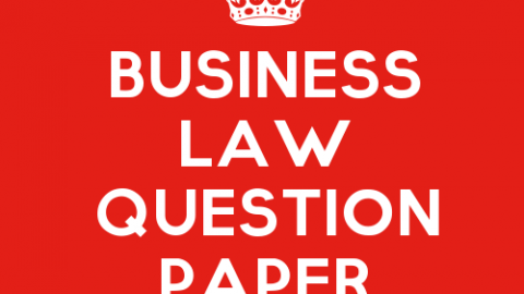 Business Law Practice Question Paper Set 7