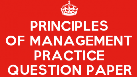 Principles of Management Practice Question Paper Set 5