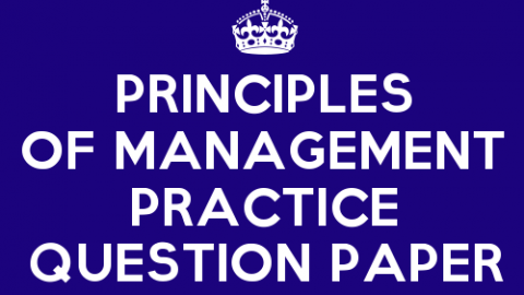 Principles of Management Practice Question Paper Set 7