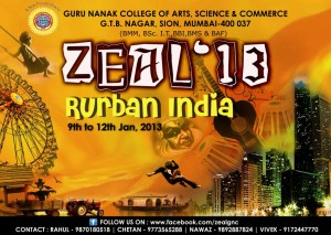 Guru Nanak College Presents Zeal 2013
