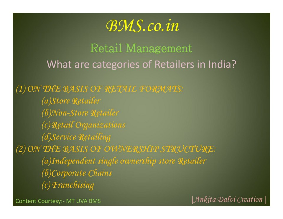 Retail Management Long-Answer Keypoints
