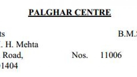 TYBMS Sem 5 Exams 2013 – Palghar Centre for Seat Nos. 11006 to 11066