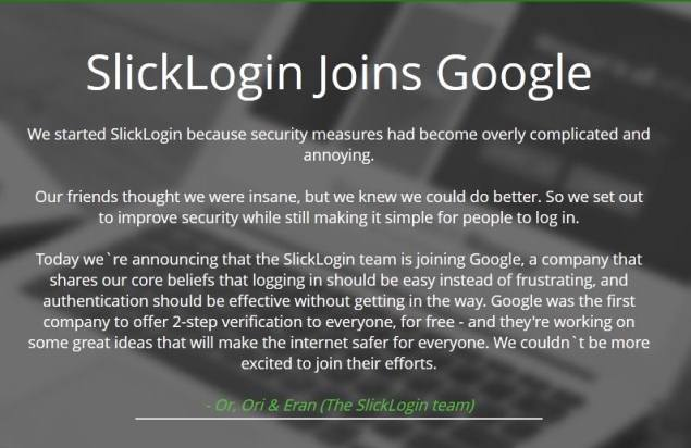 slicklogin_google_acquire_screenshot