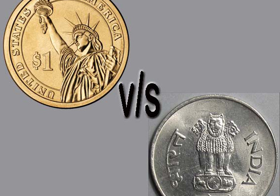 Rupee rises by 22 paise against the dollar!