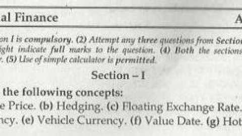 International Finance Mumbai University April 2006 Question Paper