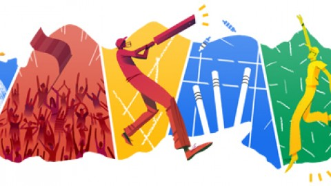 Google Doodle marks Cricket T20 World Cup 2014 final between India and Sri Lanka