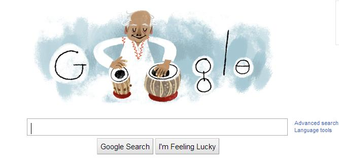 Google celebrates the 95th birth anniversary of Indian Tabla maestro Ustad Alla Rakha