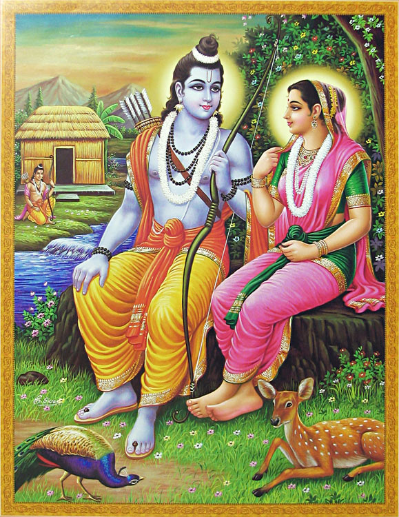 rama-and-sita-in-exile-with-lakshmana-guarding-CH78_l