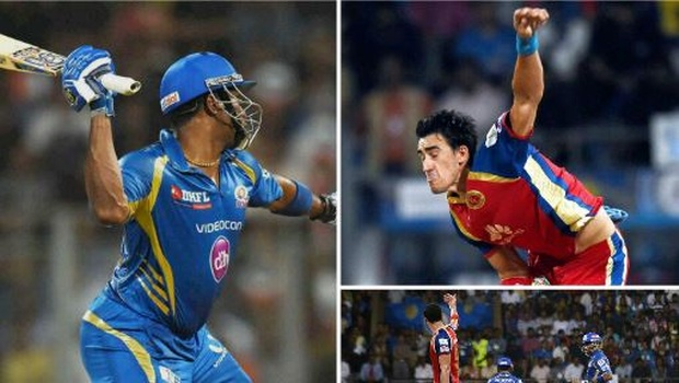 Watch The Big IPL fight between Kieron Pollard and Mitchell Starc