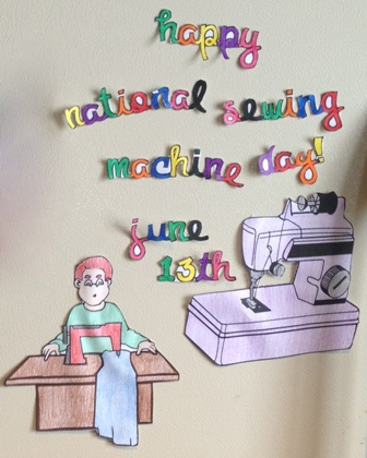 Happy Sewing Machine Day 2014 HD Images, Greetings, Wallpapers Free Download