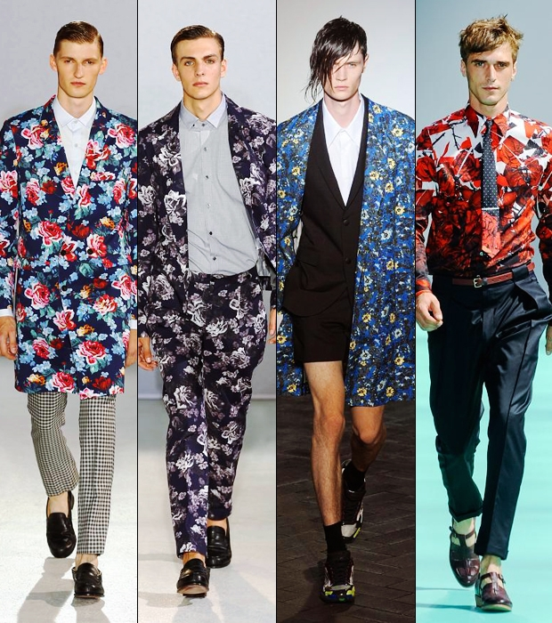 Men's Spring/Summer 2014 Fashion Trend Floral Prints