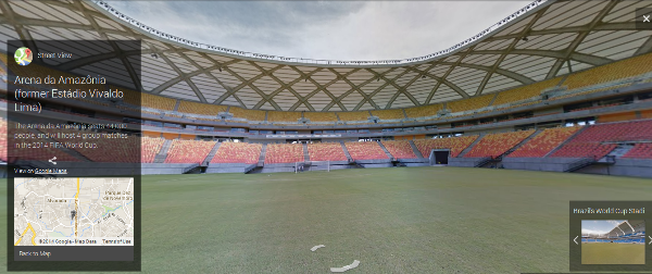 Google Has Street Views For All FIFA 2014 Stadiums