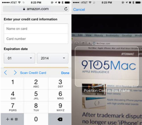 Click A Picture Of Your Credit And Your Iphone Will Save Its Information