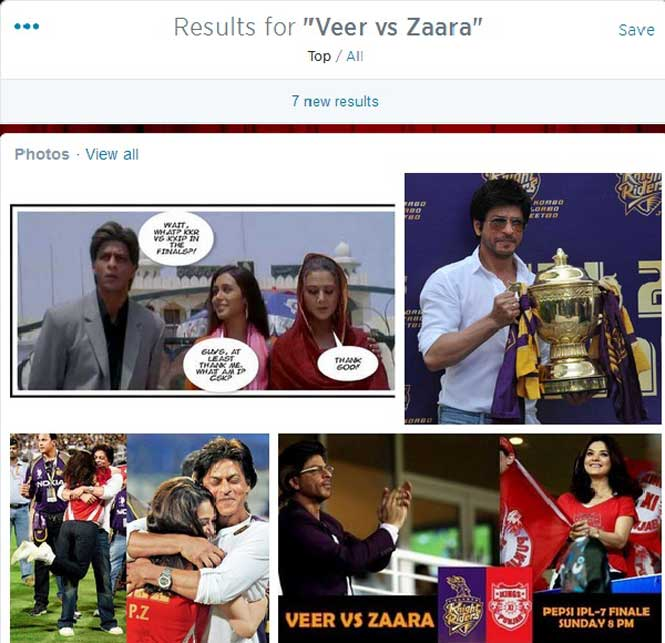 IPL 7 Finale Between Veer and Zaara