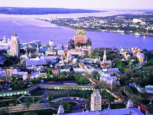 Quebec City Aerial view of Quebec City in summer