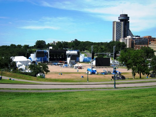 Quebec City Summer Festival's Bell Stage and audience area
