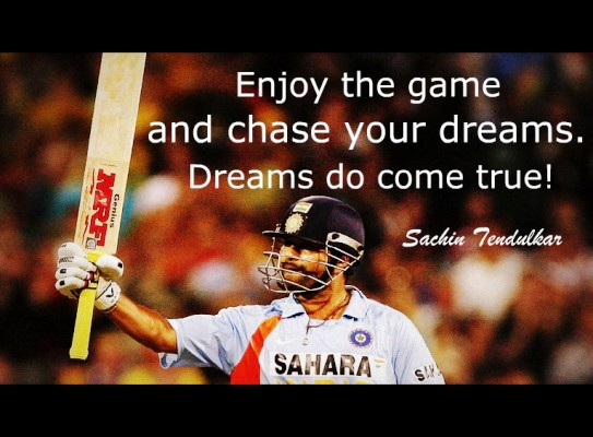 The Top 10 Inspirational Quotes By 'Sachin Tendulkar' Of All Time