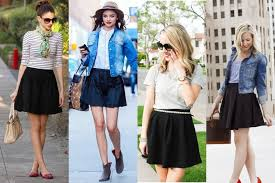 8 Ways to rock a plain black skirt