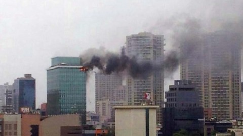Watch Live footage of Major fire which breaks out at Andheri's Lotus Business Park