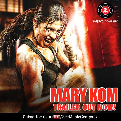 Watch Mary Kom Official Trailer Starring Priyanka Chopra in & as Mary Kom, 5 September 2014