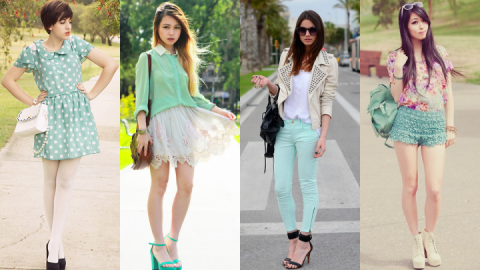 How To Wear Mint Fashionably!