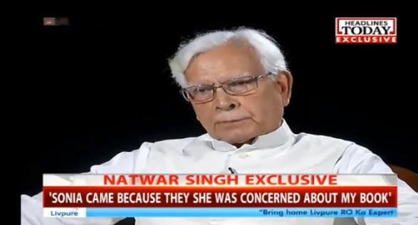 7 Tweets, Status On 'Natwar Singh' Trending at Twitter