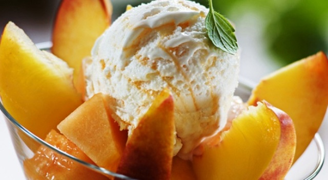 peach ice cream day