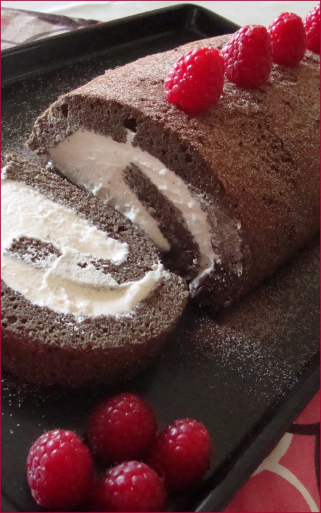Delicious Swiss Roll Chocolate Roulade Recipe.