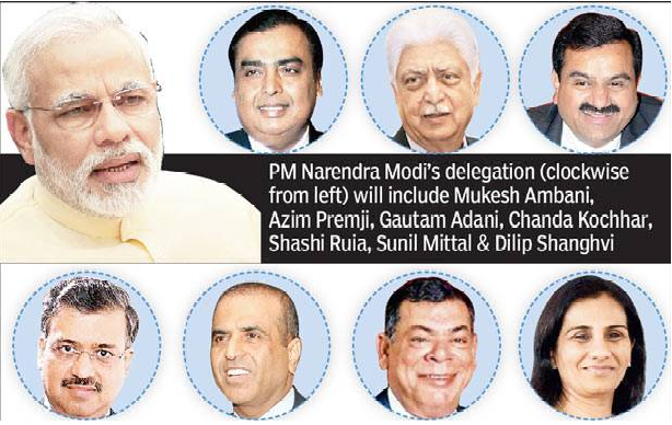 PM and business personalities