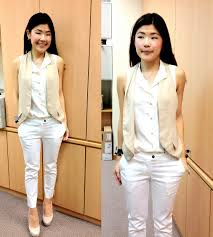 white pant and colou