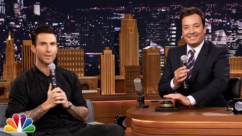 Watch : Wheel of Musical Impressions with Adam Levine