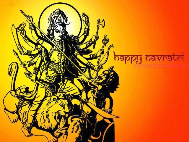 Happy Navratri Ghatasthapana 25th September 2014 HD Images, Greetings, Wallpapers Free Download