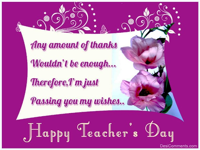Teacher's Day Comments, Graphics, Quotes Photos 2014